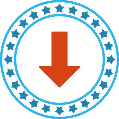 Vektor ner pil ikon