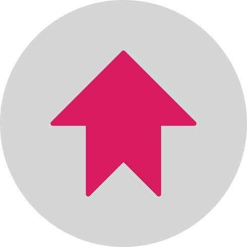 Vektor uppåtpil ikon