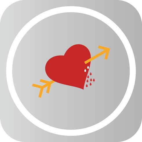 Vector hart Corss pijlpictogram