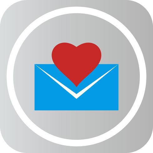 Ícone de carta de amor de vetor