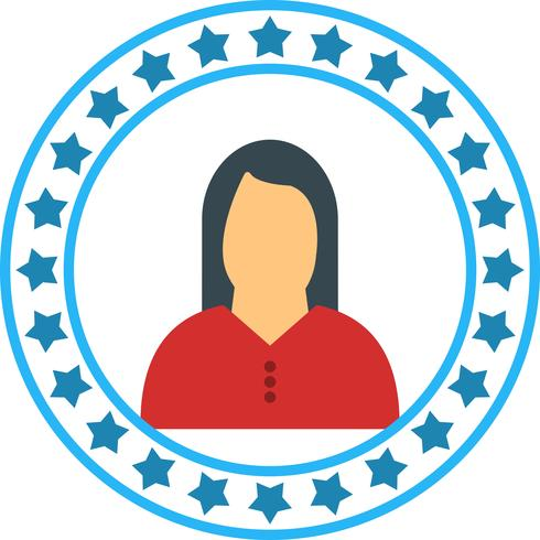 Vector mulher ícone