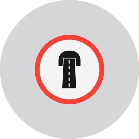 Icona del tunnel stradale vettoriale