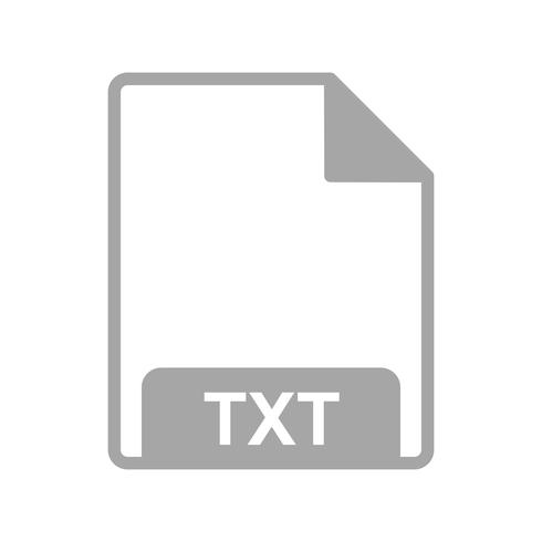 Icône Vector TXT