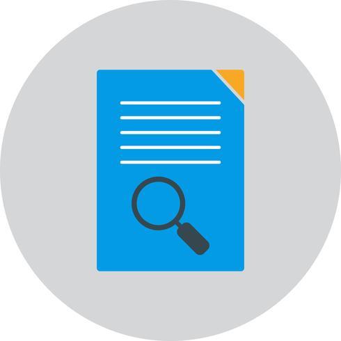 Ícone de pesquisa de documento vetorial vetor