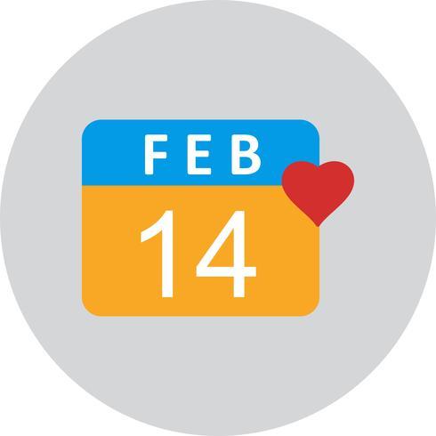 Vektor valentin dag ikon