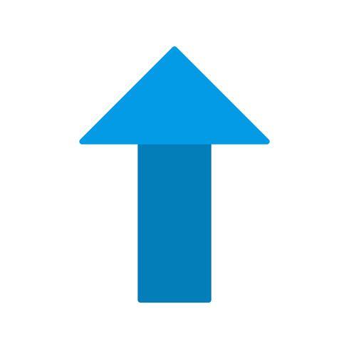 Vektor upp pil ikon