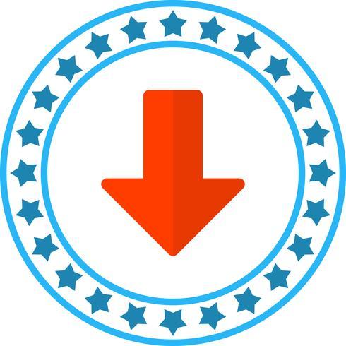 Icona freccia giù vettoriale