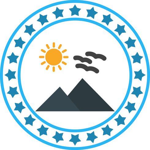 Vector Sunny Mounatin Icon