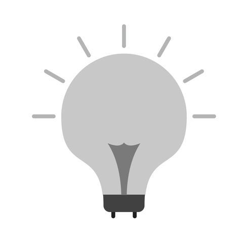 Icono de vector bombilla