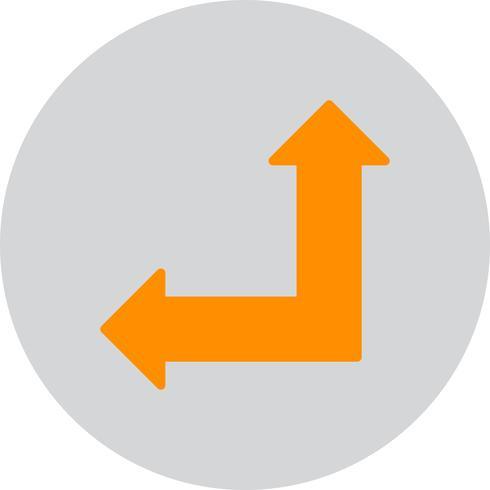Vektor uppåt och vänster pil ikon