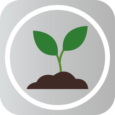Vector Soil Plant Icon