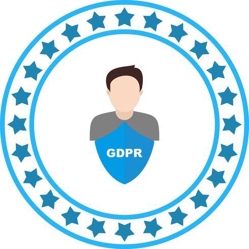 Vector GDPR seguridad hombres avatar icono