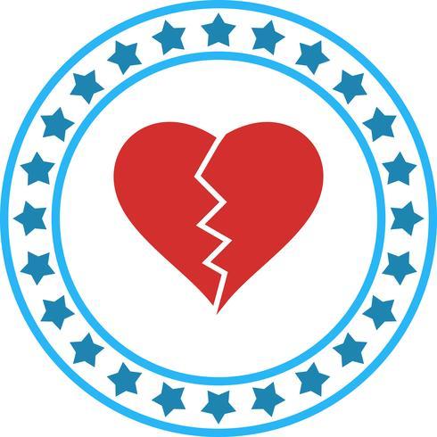 Vector hart breken pictogram
