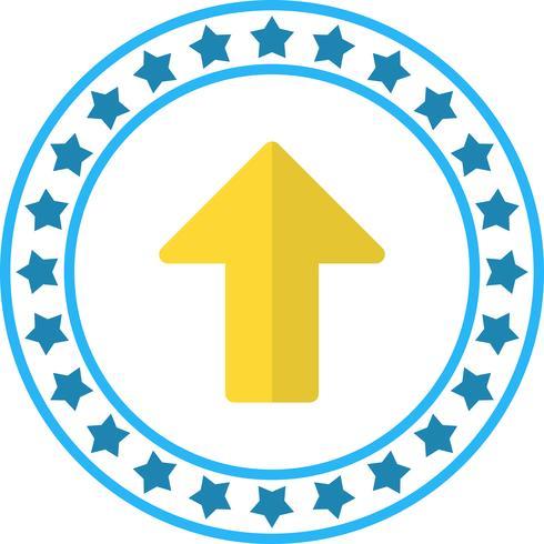 Vector pijlpictogram omhoog