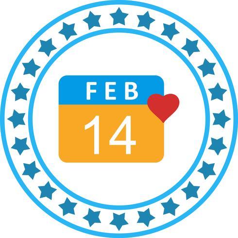 Vector Valentine dag pictogram