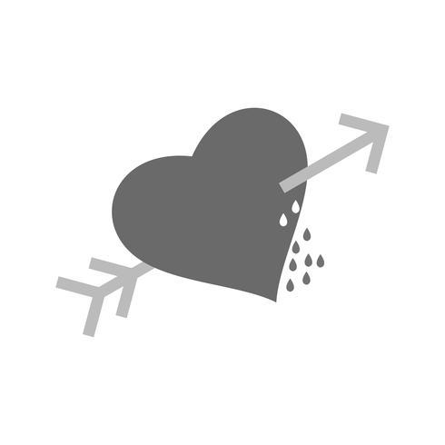 Vector corazón corsas icono de flecha