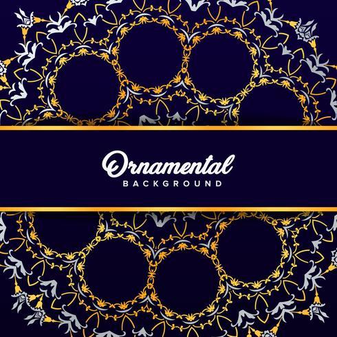 Arabic ornament background baroque in Victorian style. Element f vector