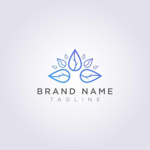 Leaves Logo Design Luxus für Ihr Unternehmen oder Ihre Marke