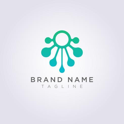 Vektor-Design von modernen Logo Icons Octopus Symbols