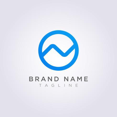 Icona logo design La lettera N è combinata con un cerchio