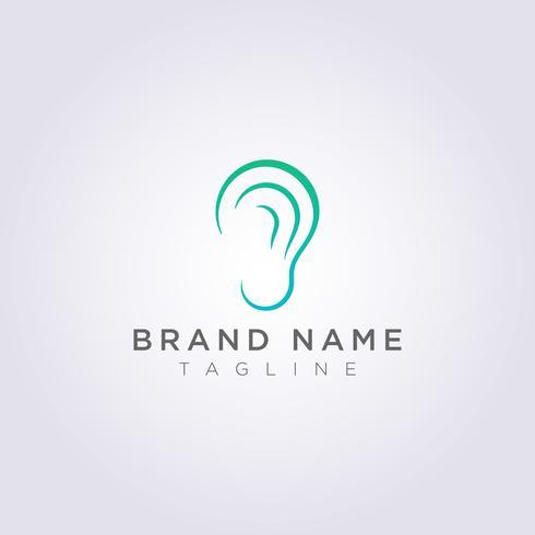 Vector Design of Modern Ear Logo Icons