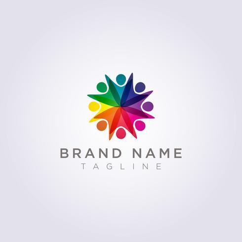 Logo Design is een groep mensen die blij zijn voor uw bedrijf of merk