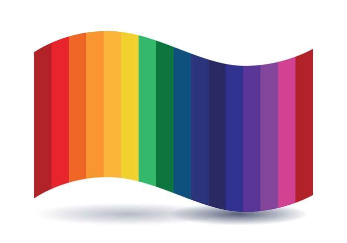 rainbow Flag Vector Illustration