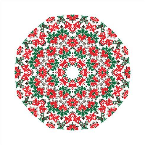 Fondo del ornamento de la mandala. Elementos decorativos vintage redondos. vector