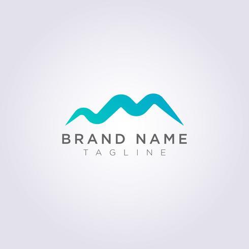 Diseño de icono de logotipo de montaña moderna