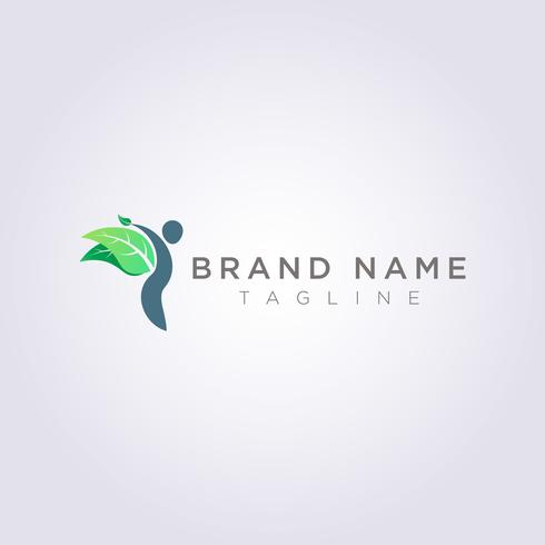 Design a person logo with leaf wings for your Business or Brand
