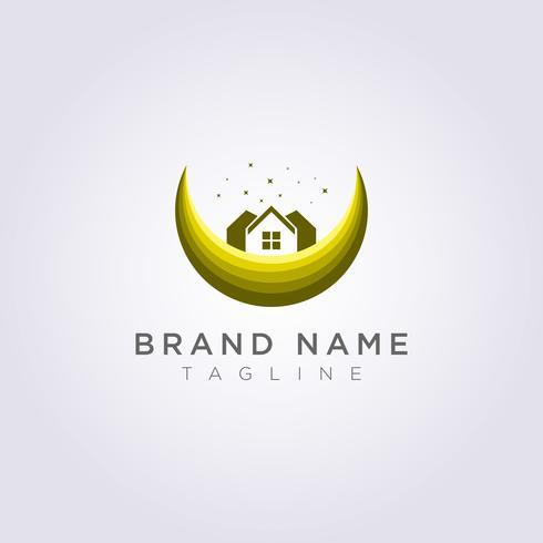 Ontwerp een huislogo op de maan met sterren voor uw bedrijf of merk
