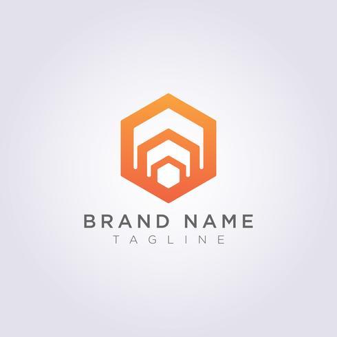 Logo Design Abstract Vector Hexagon Symbol