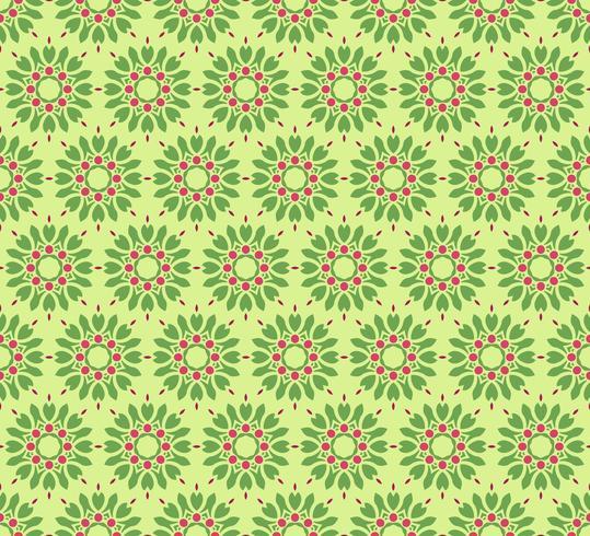 Ilustración de vector de patrón de ornamento floral transparente