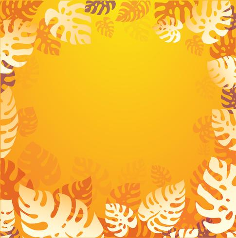 tropical leafs summer background vector