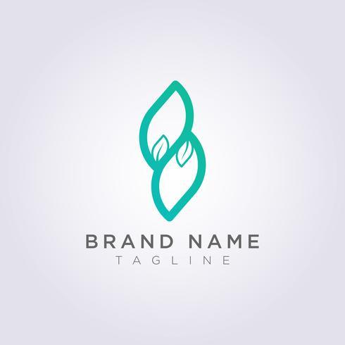 Modern and creative leaf line logo icon design