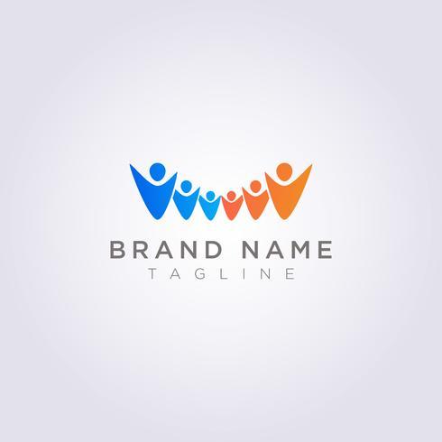 Concevez le logo d'un groupe de personnes pour votre entreprise ou votre marque