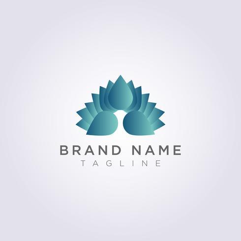 Icona di logo del fiore di lusso di disegno vettoriale