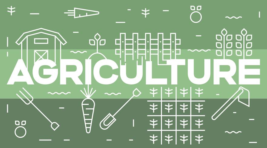 Jordbruk och jordbruk typografi