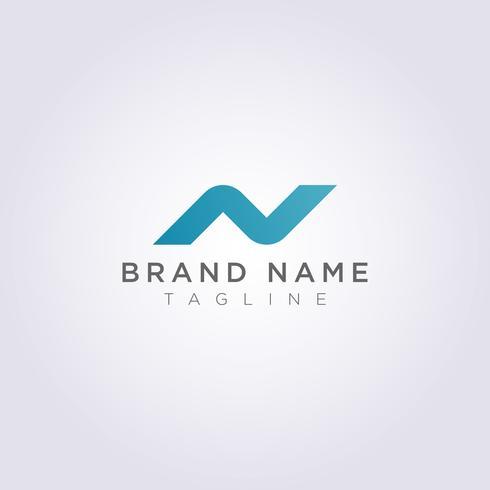 Moderner Logo Icon Design Letter N dekorativ
