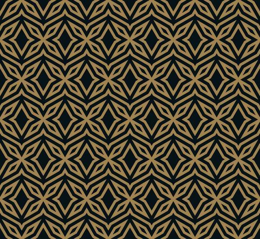 Ornamento inconsútil abstracto patrón vector ilustración oro woth color