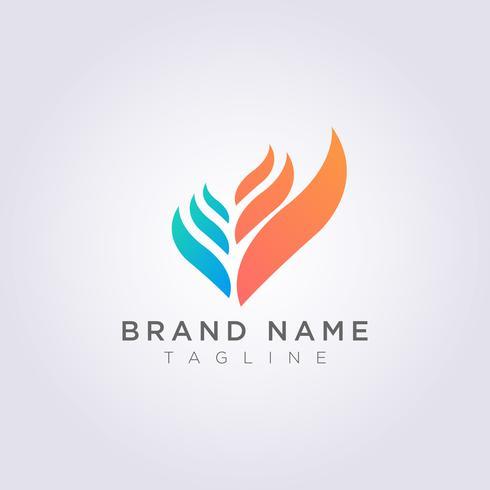 Resumen hoja de diseño de icono de logotipo para su uso vector
