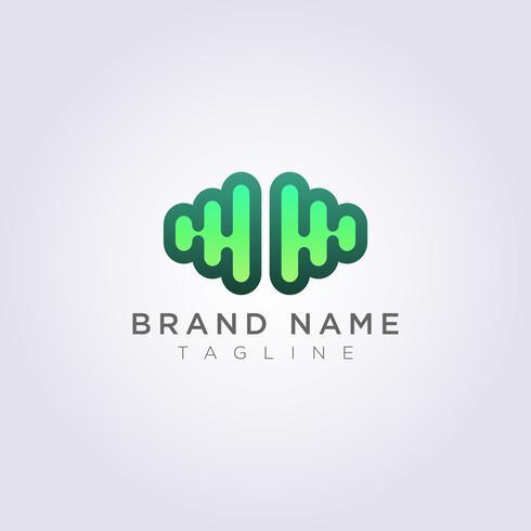 Cerebro moderno Logo Icon Design vector
