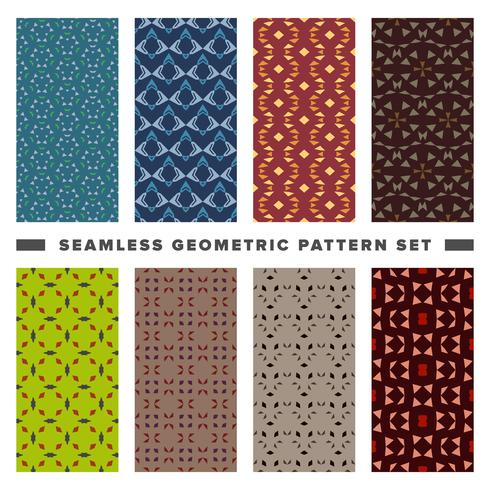 Conjunto de patrón de formas geométricas decorativas sin costura