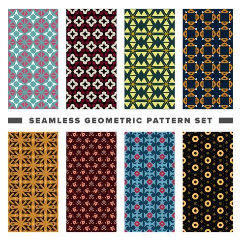 Conjunto de patrón de formas geométricas decorativas sin costura vector