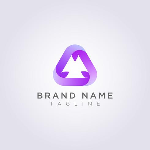 Recycle triangle logo design for your Business or Brand