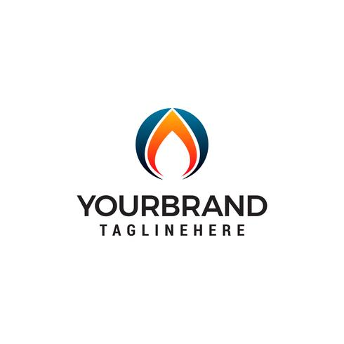 feu flamme logo design concept template vecteur