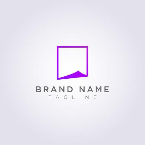 Foldat papperslogo design för ditt företag eller varumärke