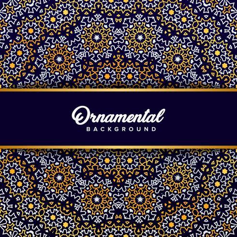Fondo de adorno árabe barroco en estilo victoriano. Elemento f