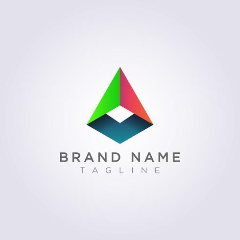 Icônes de logo abstrait géométrie de conception pour que vous puissiez utiliser