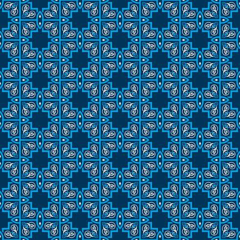 Simetrías decorativas de patrones sin fisuras, vector patrón de ornamento